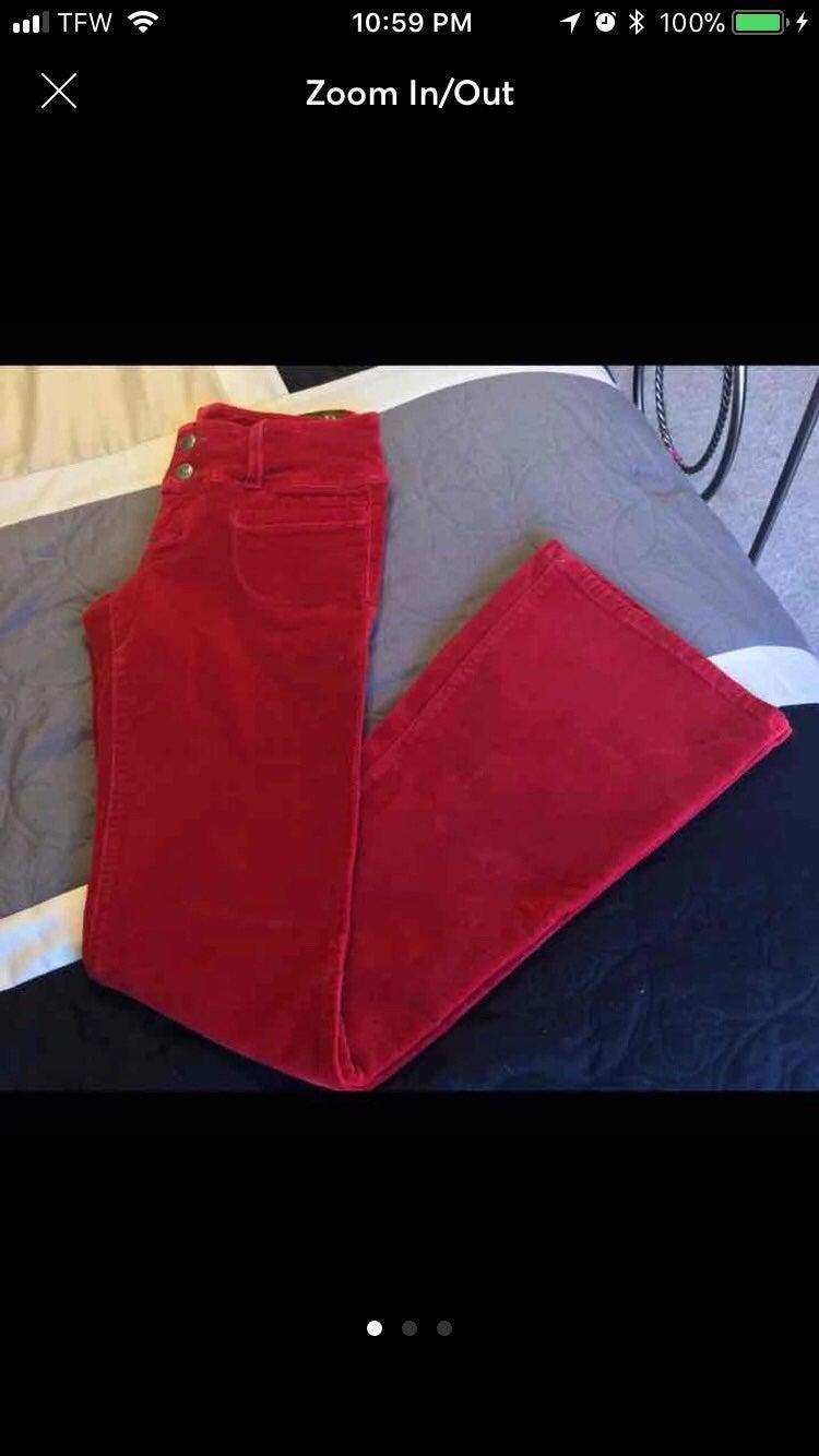 Bella Dahl Red Suede Pants 27