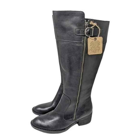 Born Fannar Leather Knee High Boot size 9
