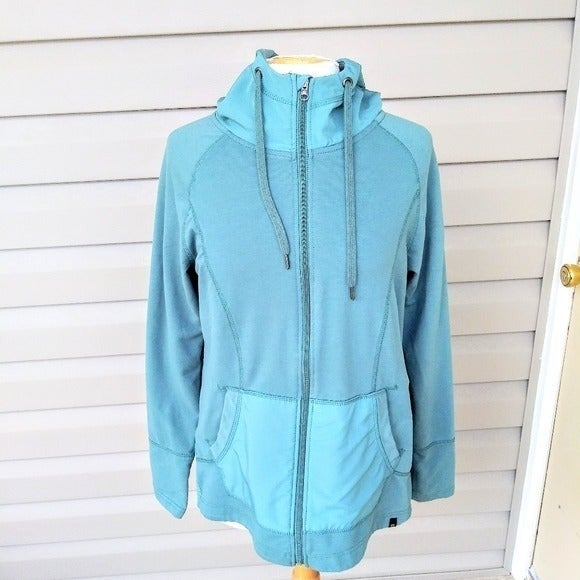 Teal Mid Weight Hooded Athletic Jacket
