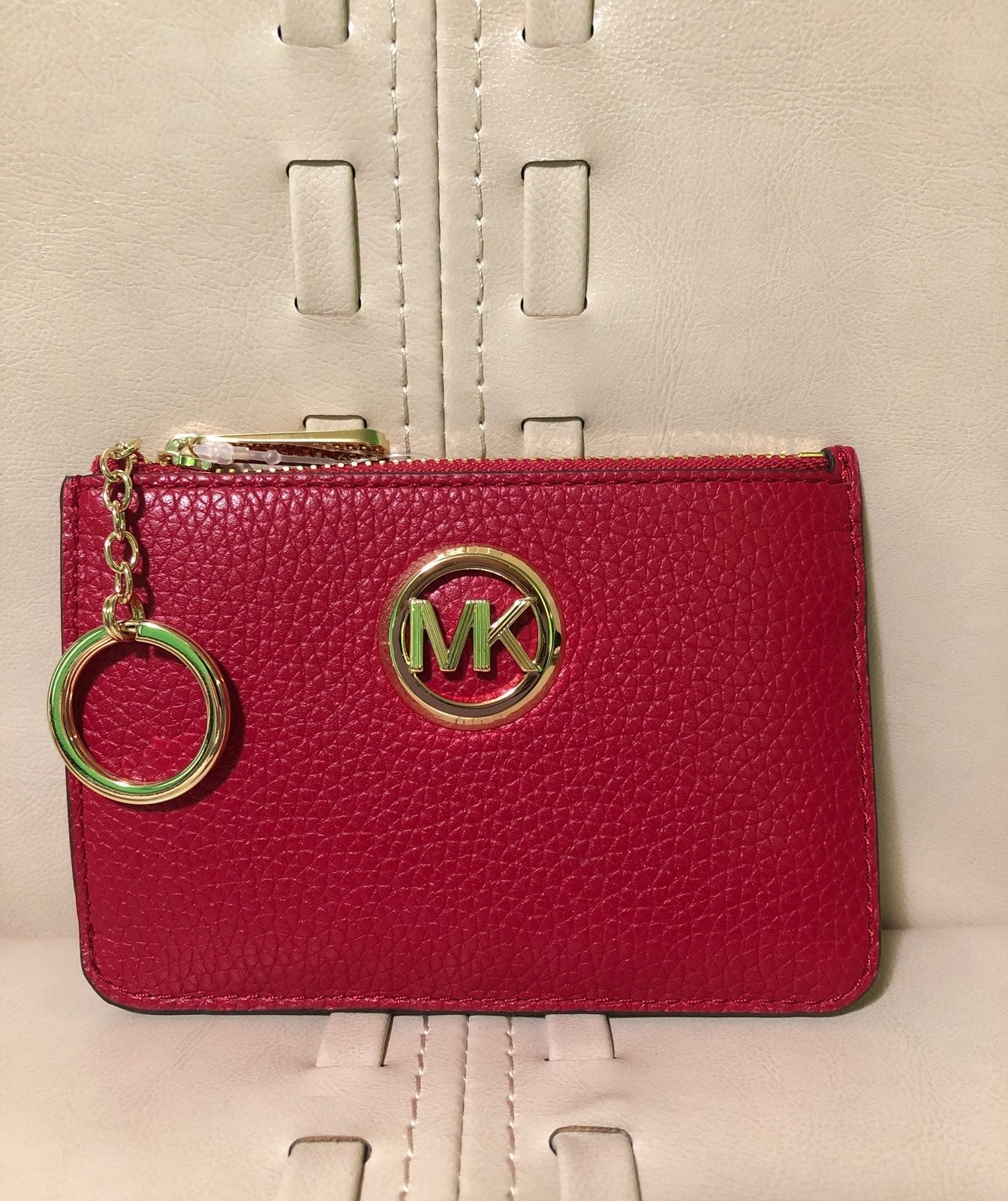 Micheal Kors Fulton Red ID Card Case