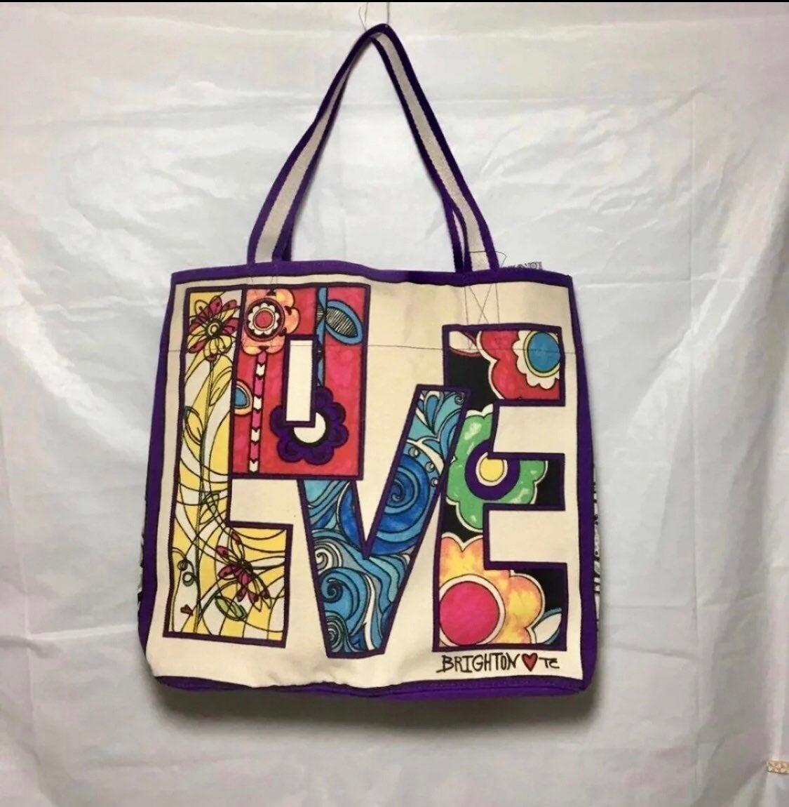 Brighton LOVE Groove Canvas Tote Bag