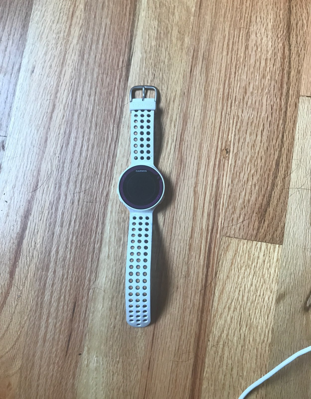 Garmin 220 watch with charging cable