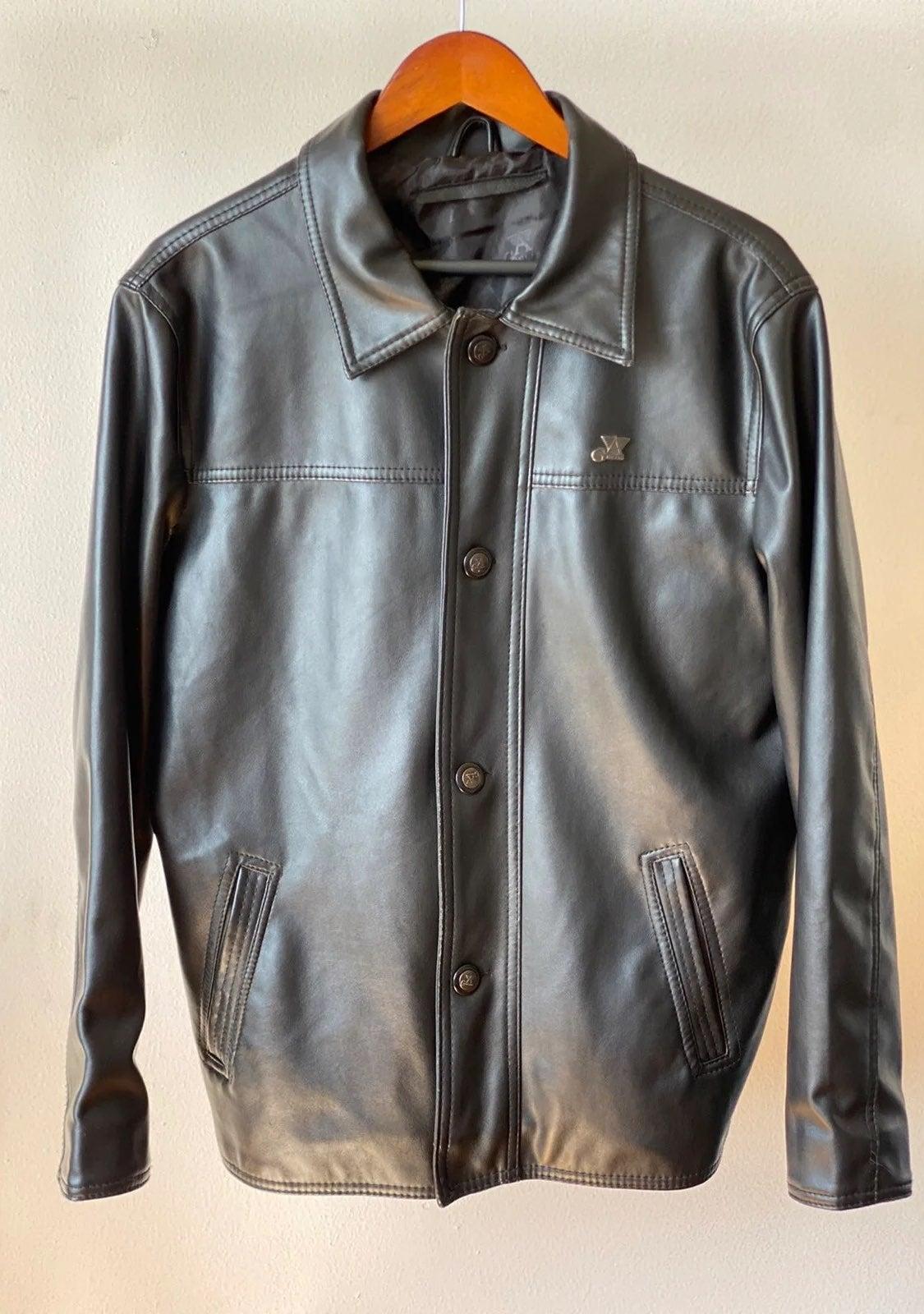 Vintage G A Milano Leather Jacket Sz M