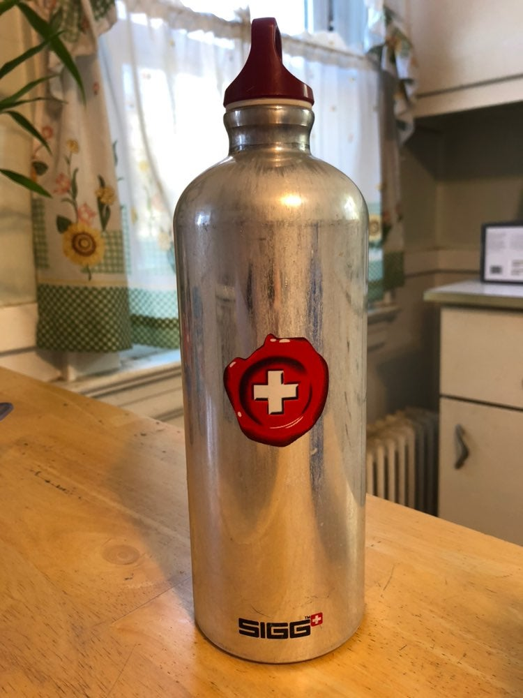Sigg aluminum water bottle