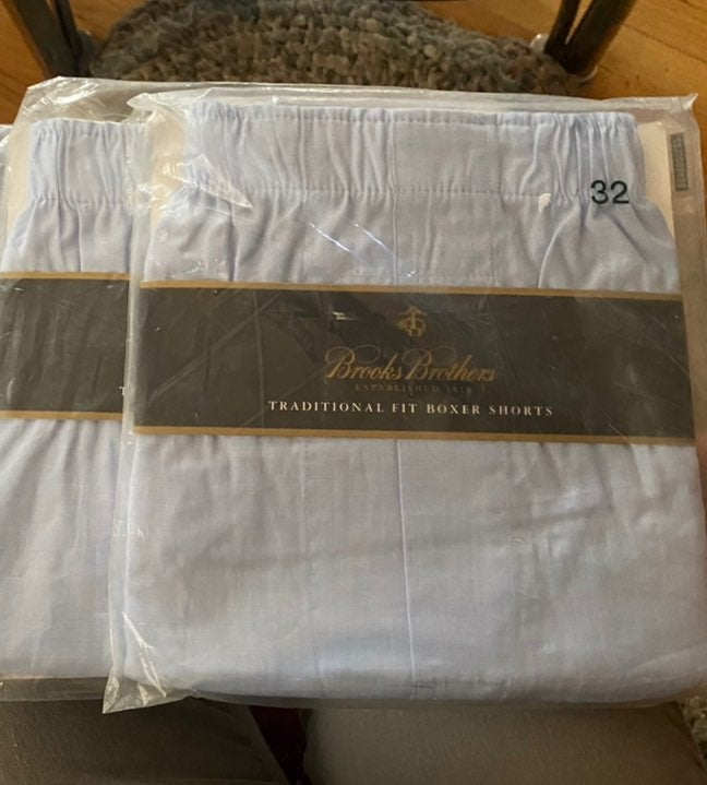 2 New Pairs of Brook Bros Boxers size 32