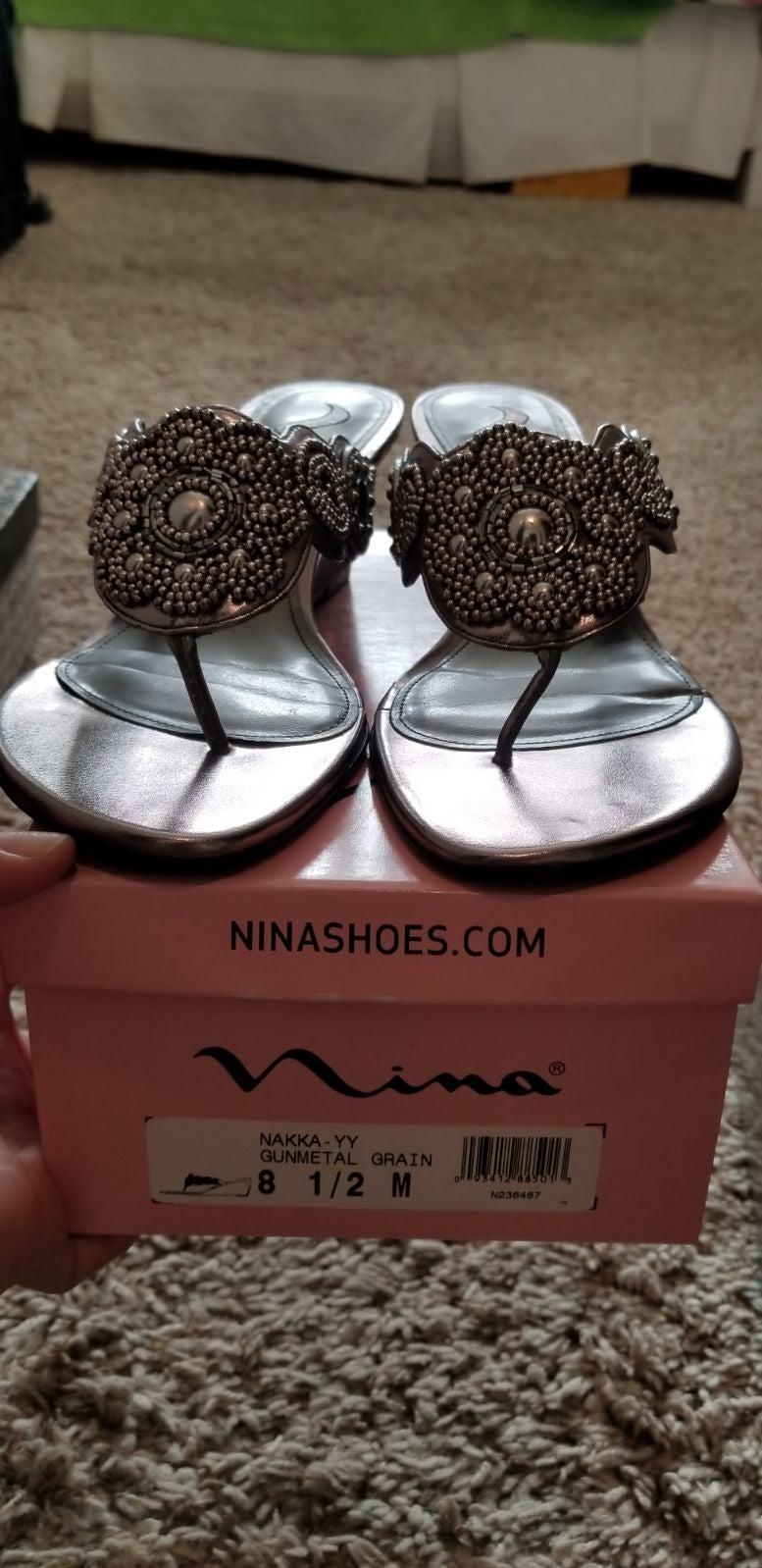 Nina Wedge Sparkle Sandals