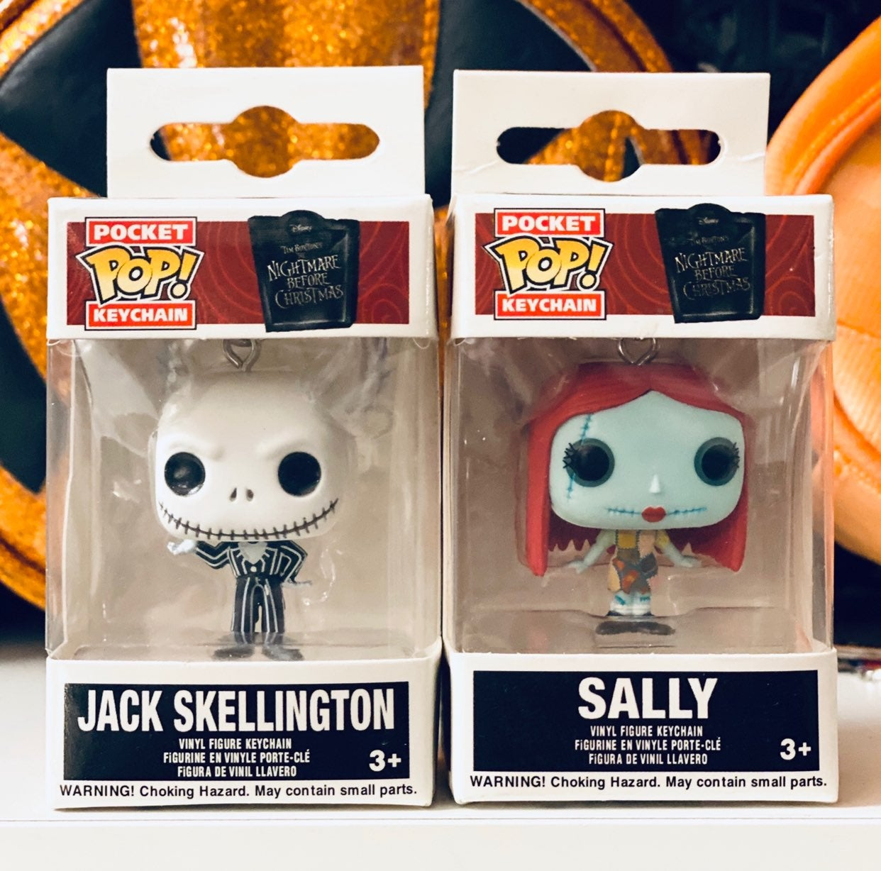 Funko Pop Jack Skellington Sally keychai