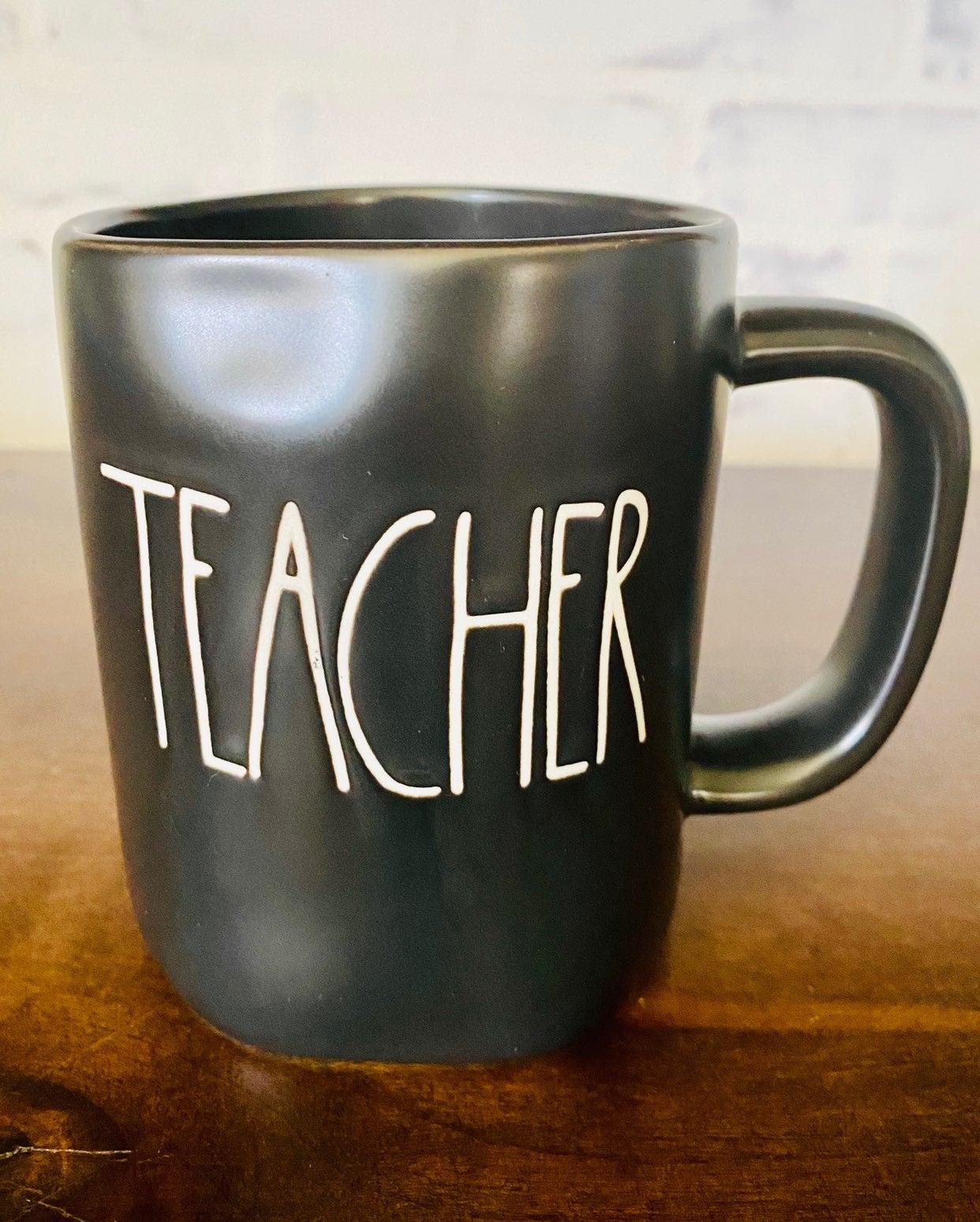 Rae Dunn Black Teacher Mug