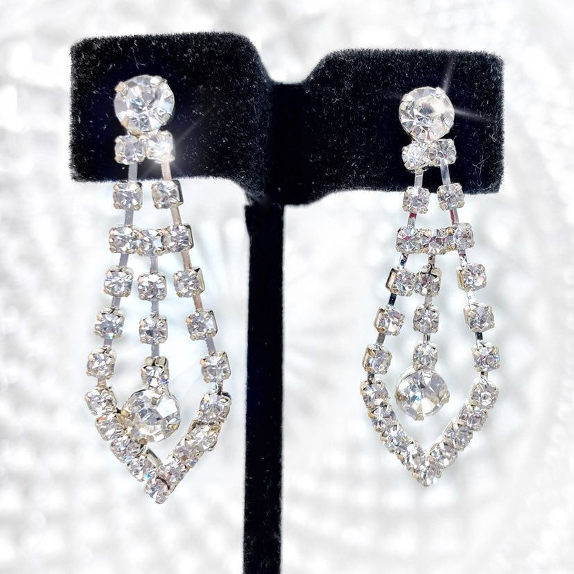 Rhinestone Prom Pageant Bridal Earrings