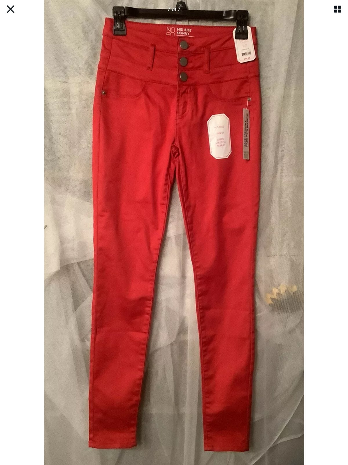 Women's Sz. 5 mid rise Skinny Red