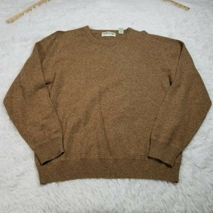 Orvis Mens Wool Silk Blend Pullover L