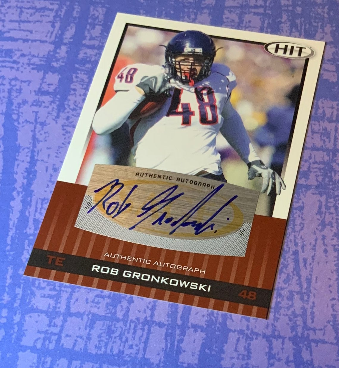 Rob gronkowski sage 2010 card