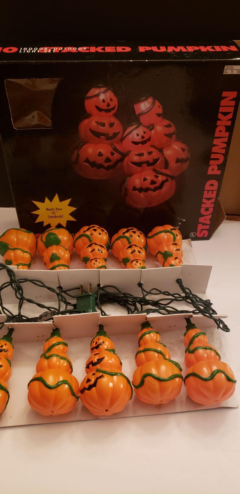 Vintage Halloween String Lights PUMPKIN