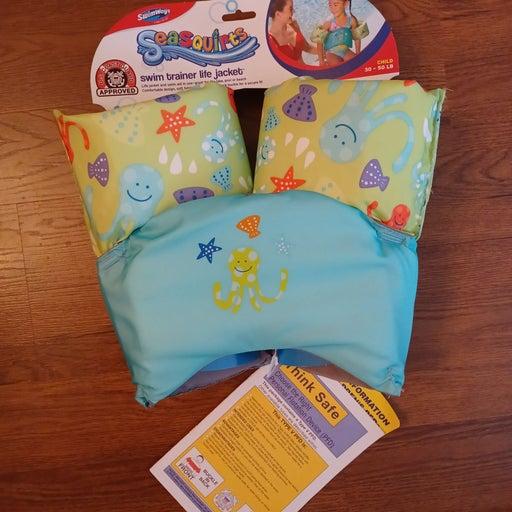 Kids pool float - child life vest floati