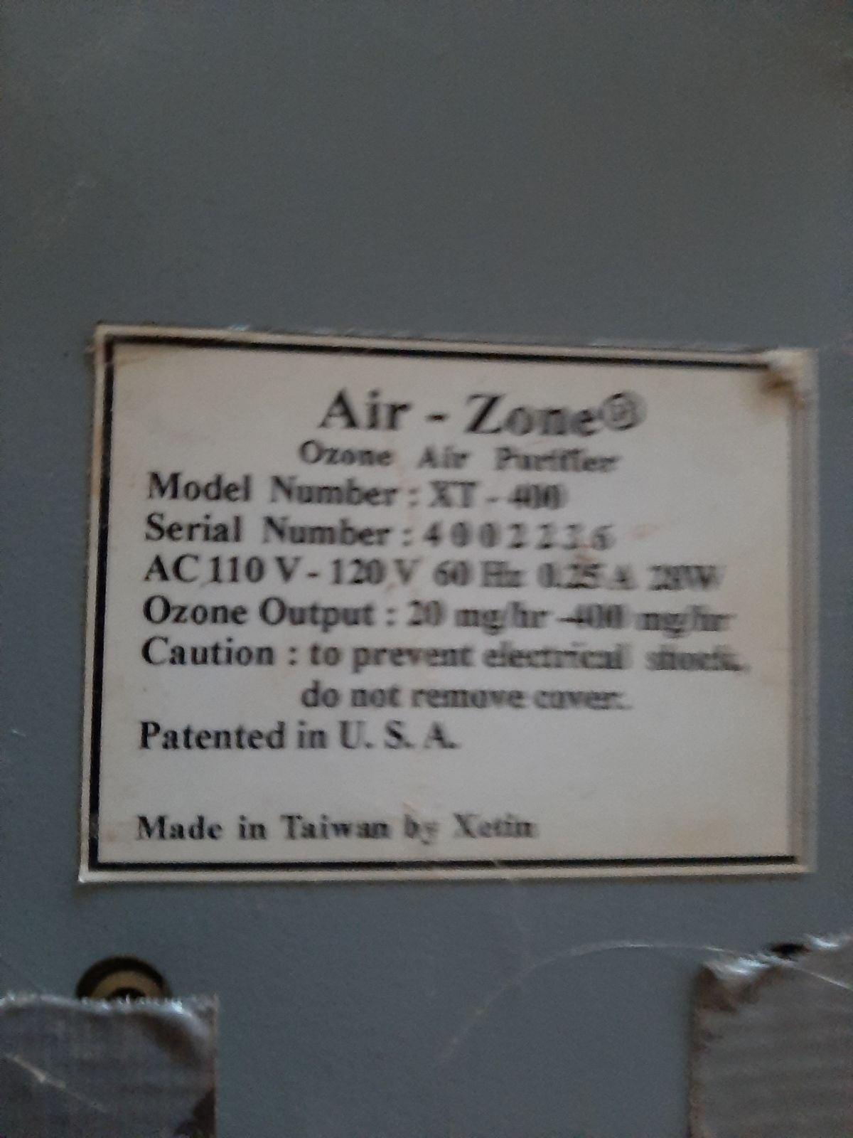 Air-Zone Ozone Air Purifier Model XT-400