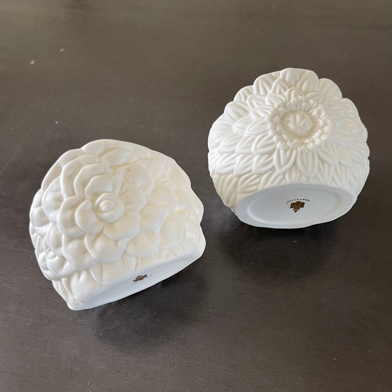 Pair May flowers Tealight candle holders