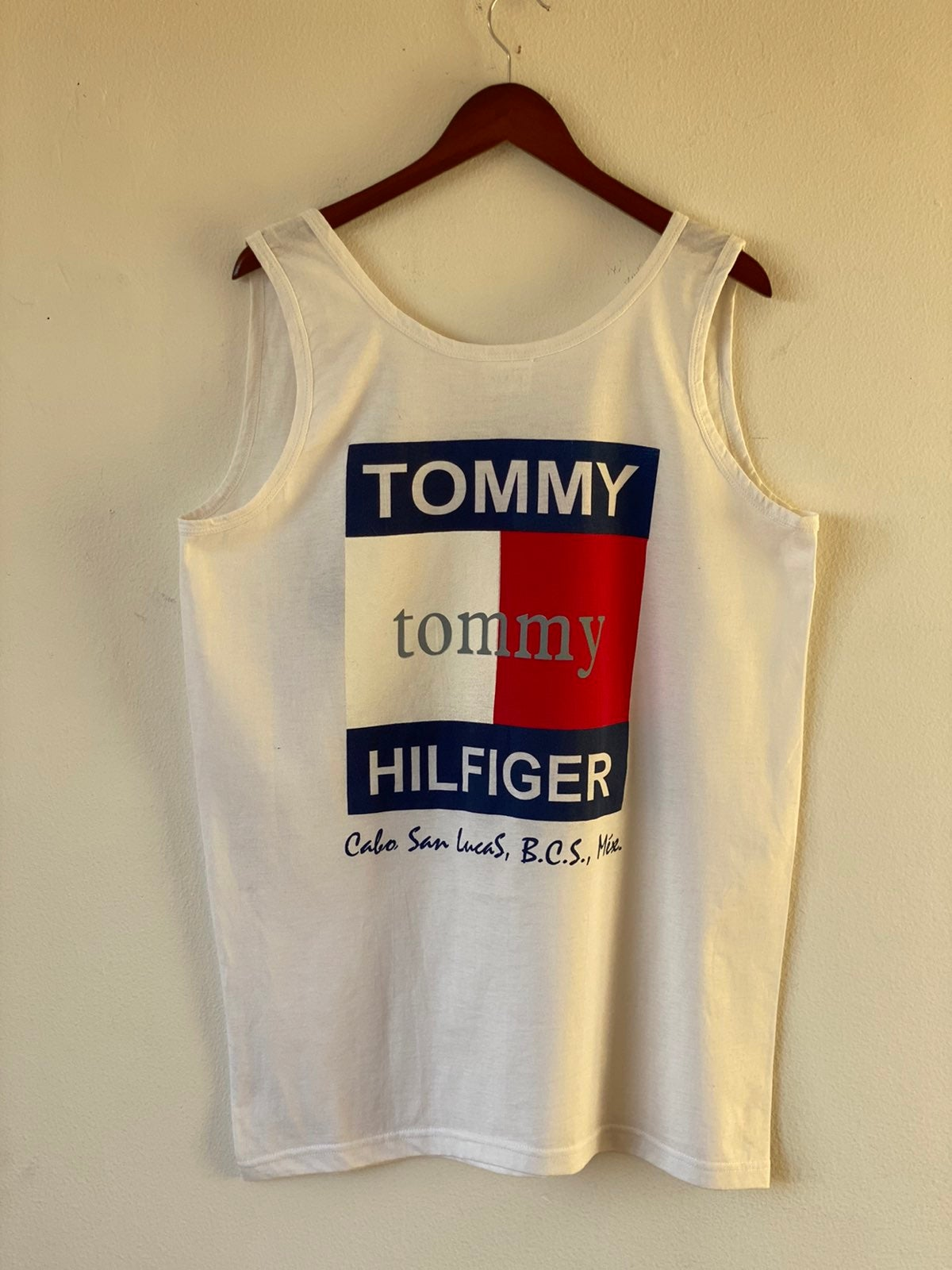 Vtg Bootleg Tomny Hilfiger Tank Top Sz L
