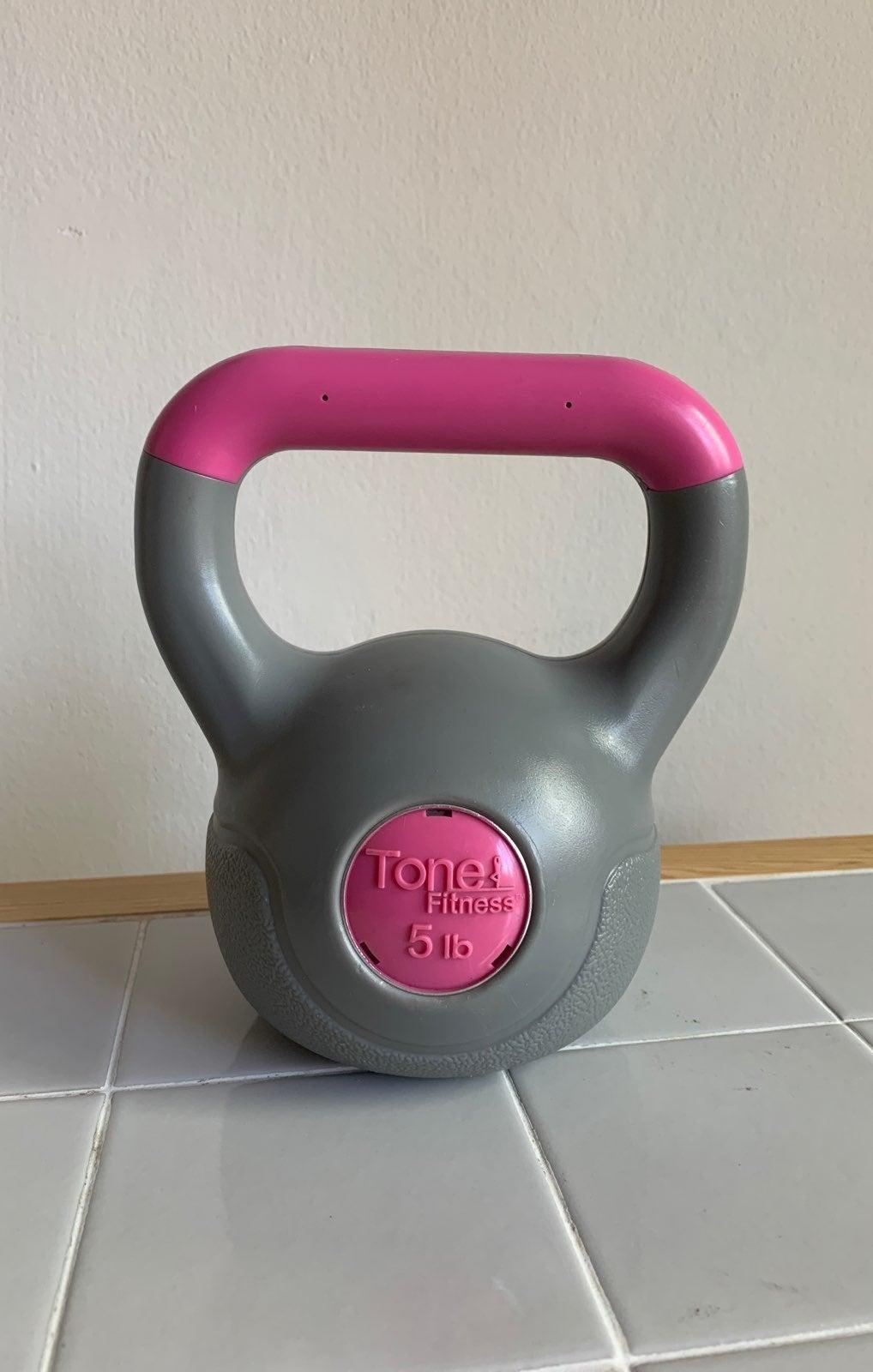 Tone Fitness 5 lb kettlebell