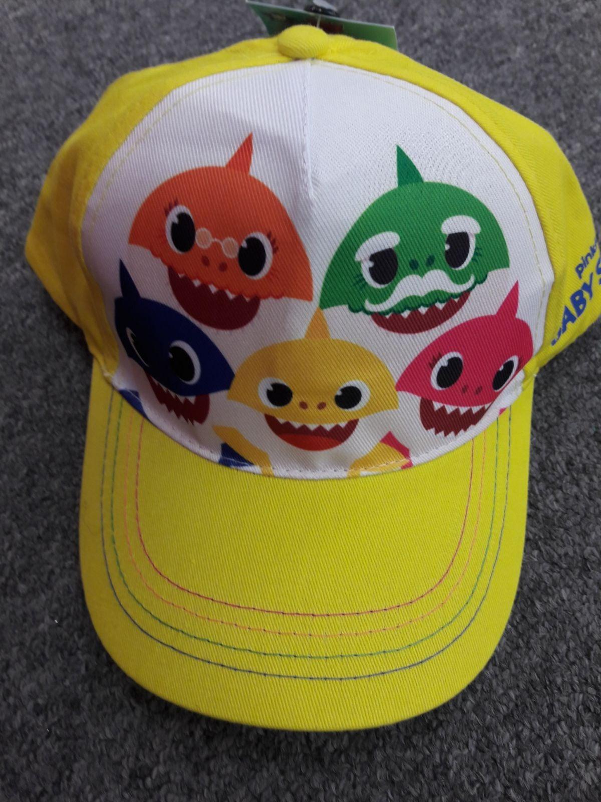 Kids boy girl baby shark hat cap snap