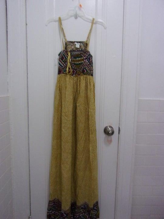 Bar III  Ethic Print Maxi Dress Size S