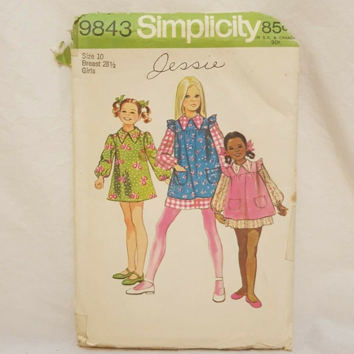 Girls Dress Smock Pattern Size 10 Simpli