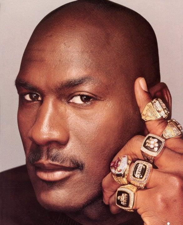 Michael Jordan Chicago Rings 8x10 photo