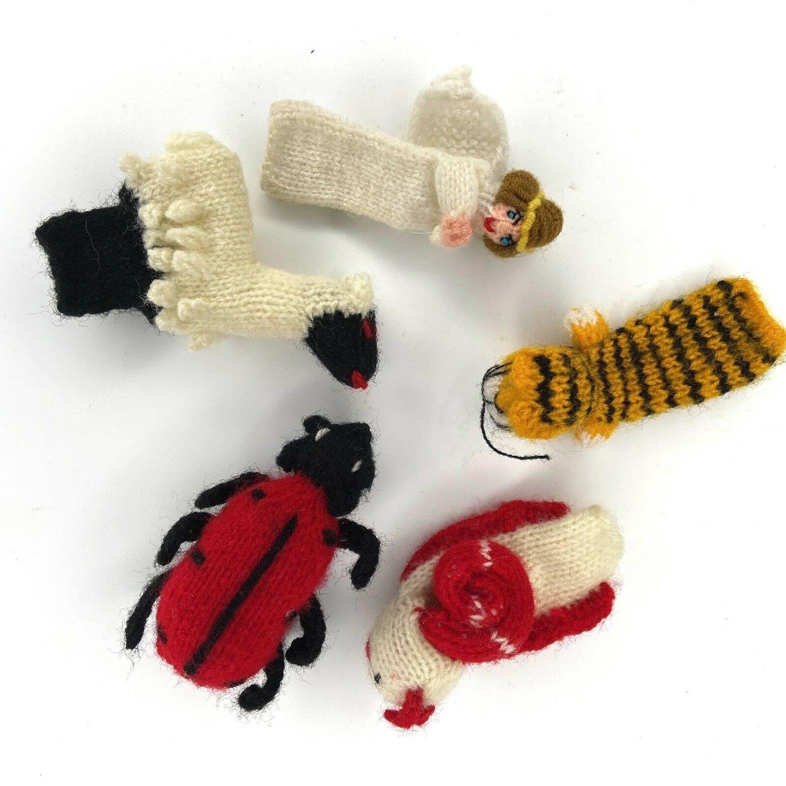 Peruvian Wool Finger Puppets Toys 5 PCS