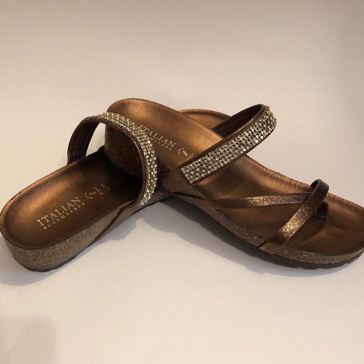 Italian Shoemakers Embellished Sandals
