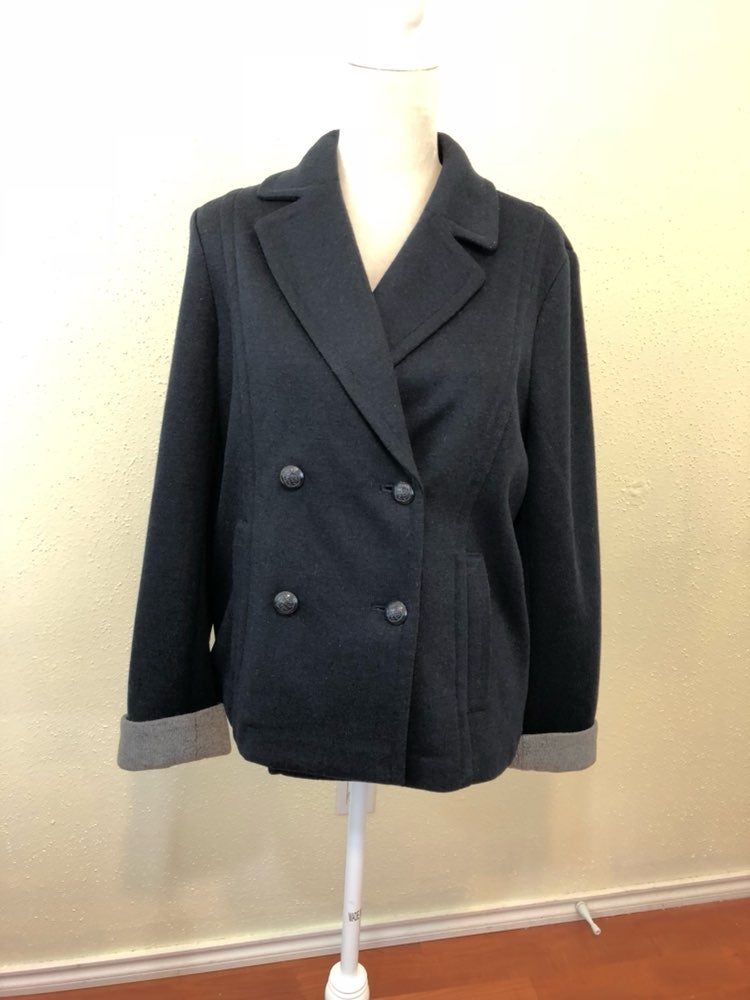 Talbots Deep Blue Two Button Jacket