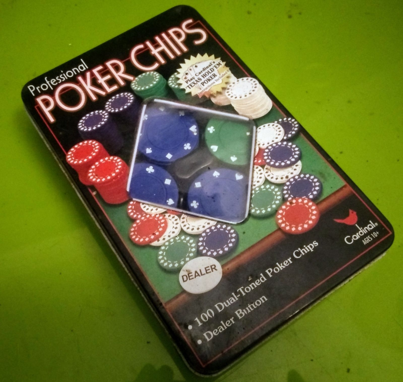 Set of Professional Poker Chips