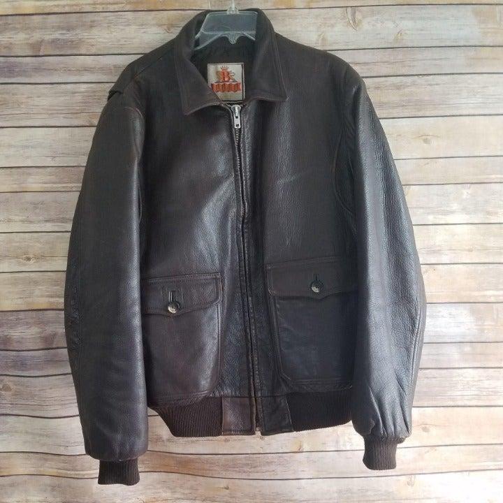 Baracuta Vintage Leather Bomber Jacket