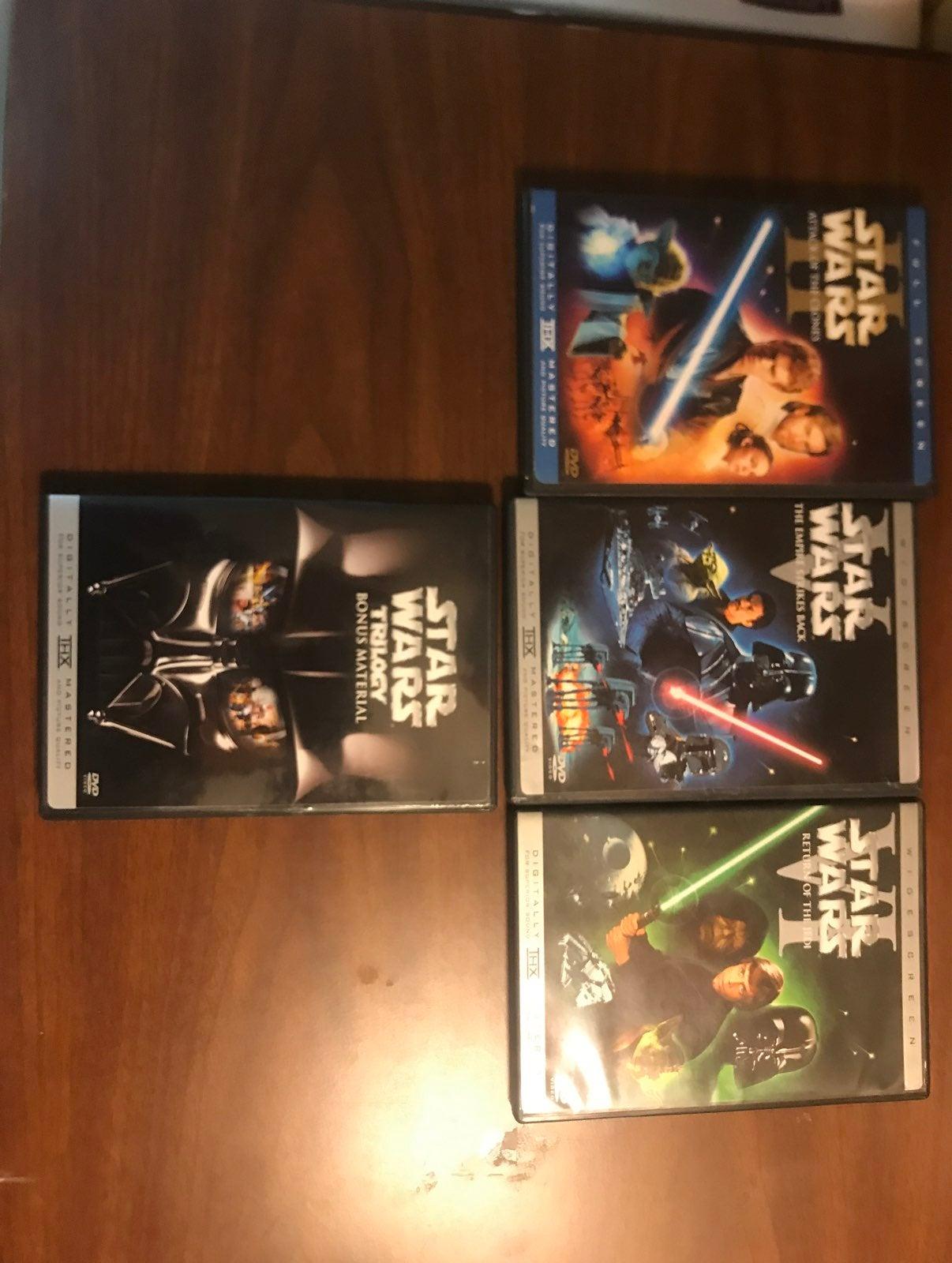 Star Wars DVD Lot
