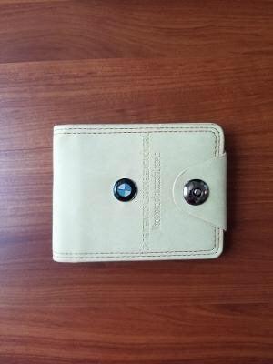 BMW Logo Men Leather Wallet