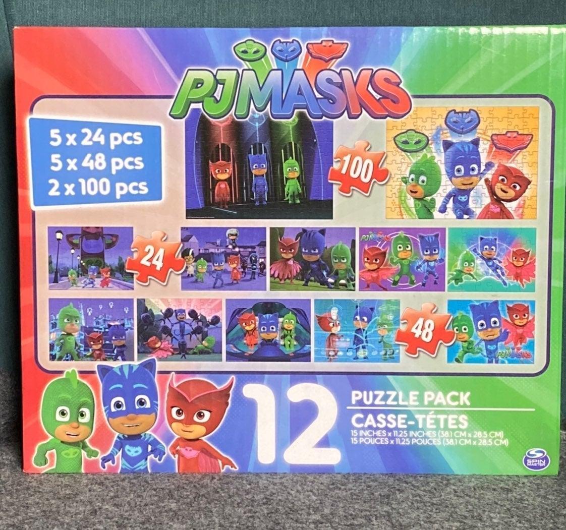 PJ Masks 12 Puzzles Pack Children Puzzle