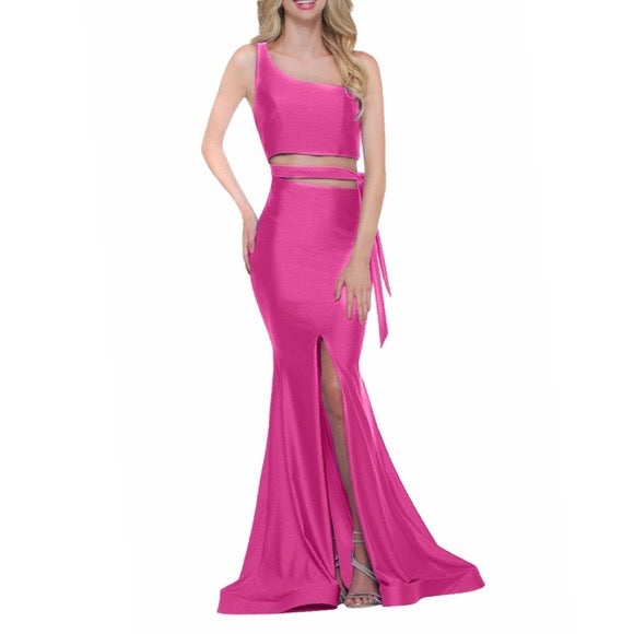 NWT  COLORS Mermaid Gown Hot Pink 12