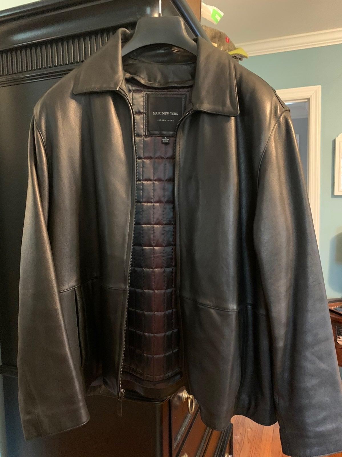 Leather Jacket -men's size L