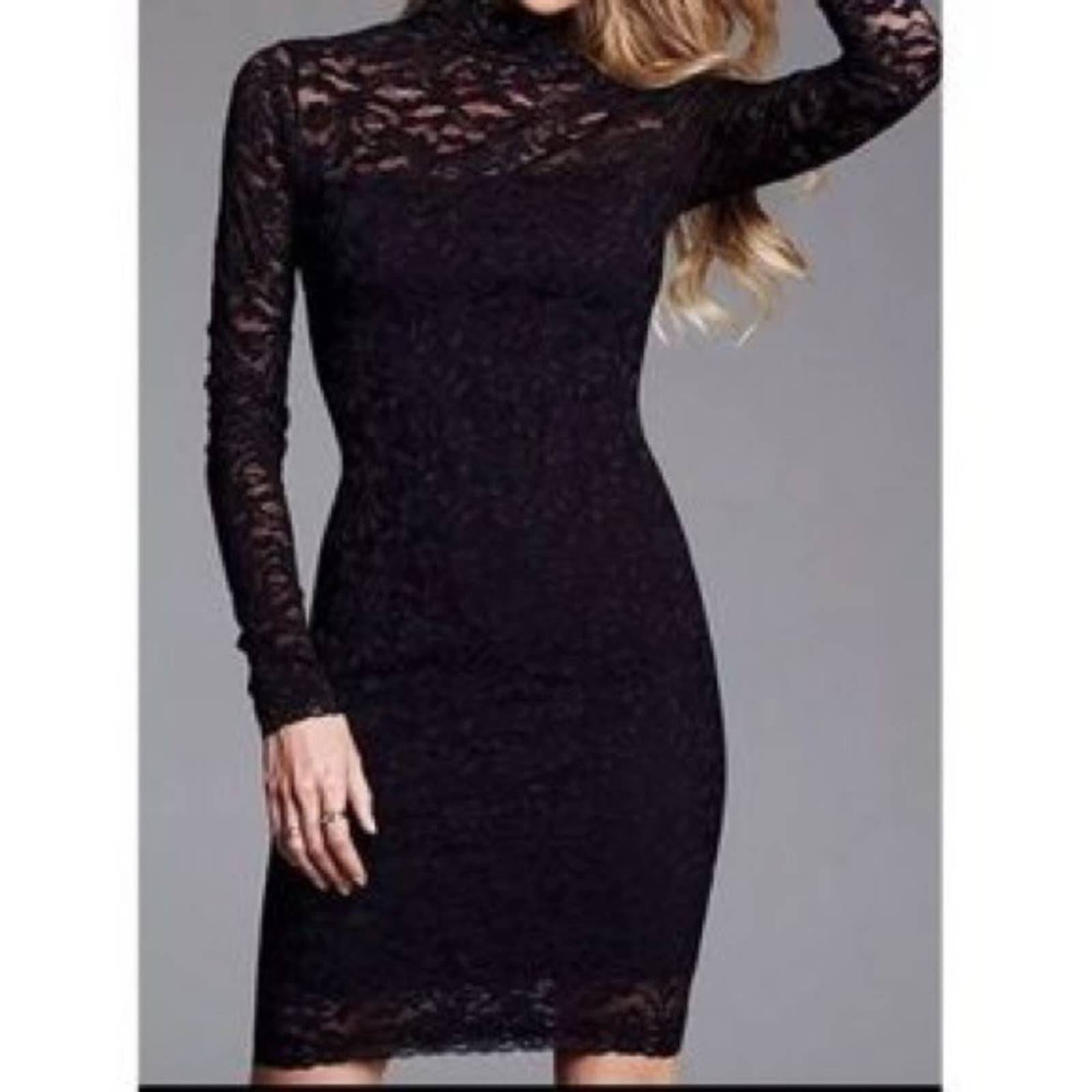 Moda International Black Lace Dress M