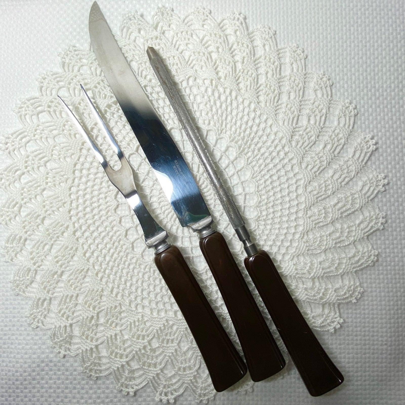 Vintage Bakelite Carving Cutlery Set