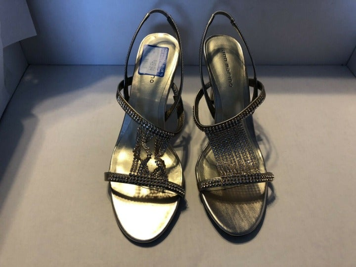 Ann Marino Hibachi Beaded Sandal Heel