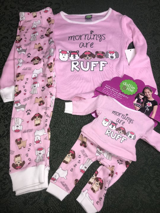 Nwt dollie & me 5 dog matching pajamas