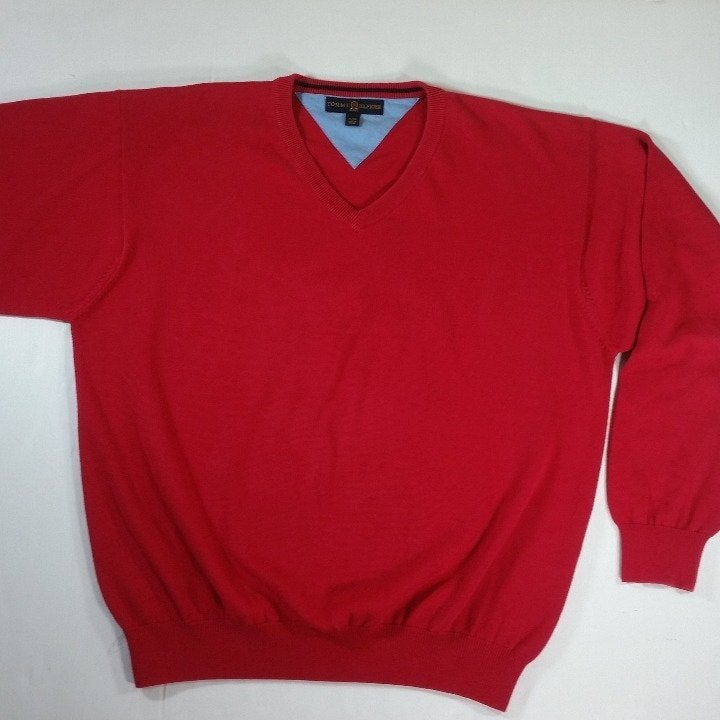 Tommy Hilfiger Red Golf Sweater Size XL