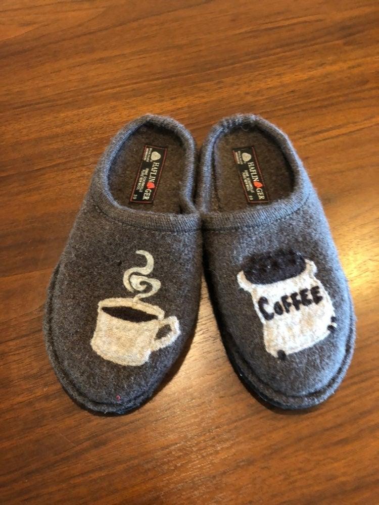 Haflinger wool coffee slippers 39