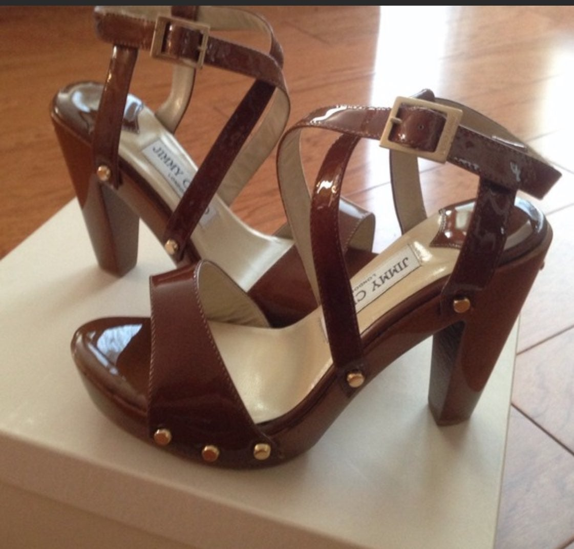 Jimmy Choo platform sandals heels