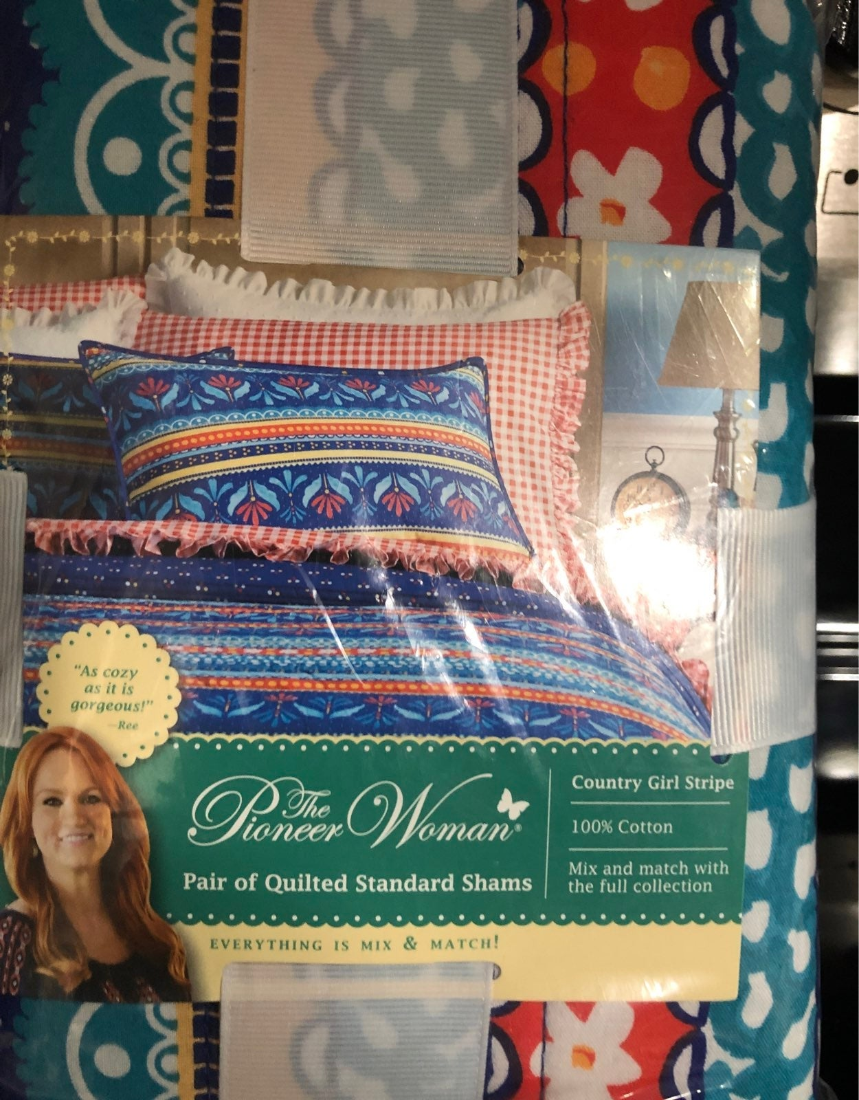 Pioneer Woman quilted standard  pillow s