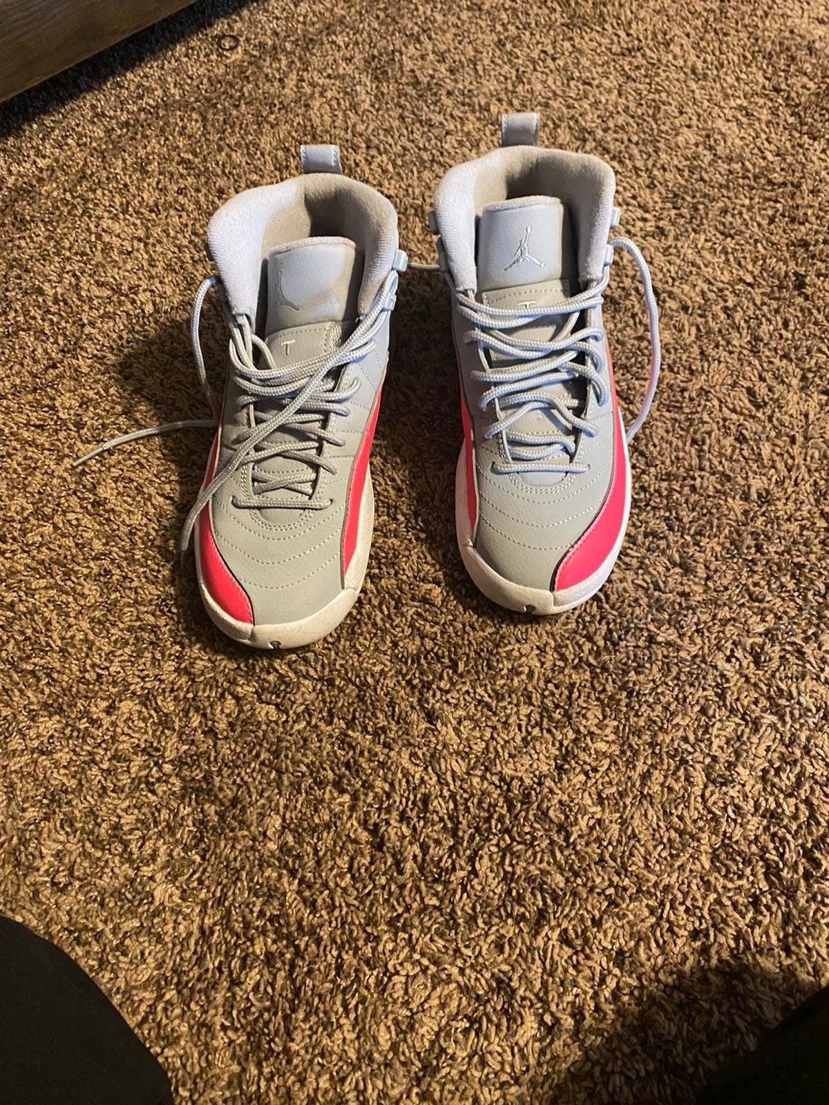Jordans gray and hot pink