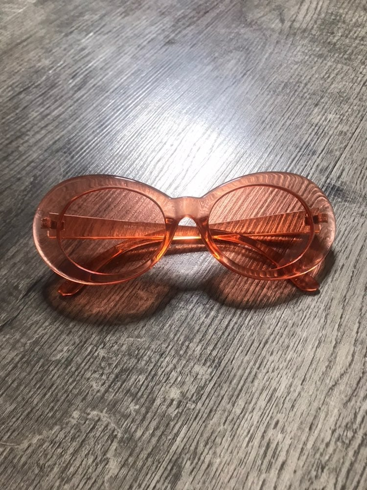 Vintage pink oval lense Sunglasses