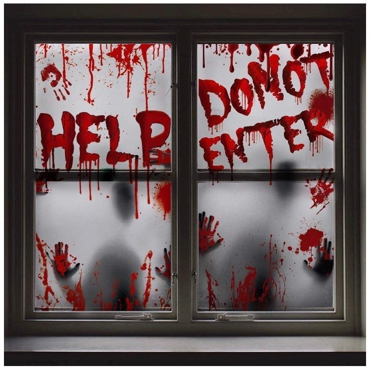 Bloody Window Cling Decorations