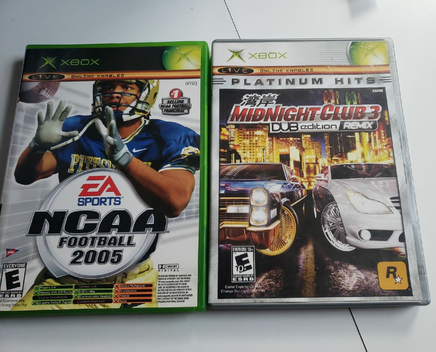 NCAA Football 2005 & Midnight Club 3