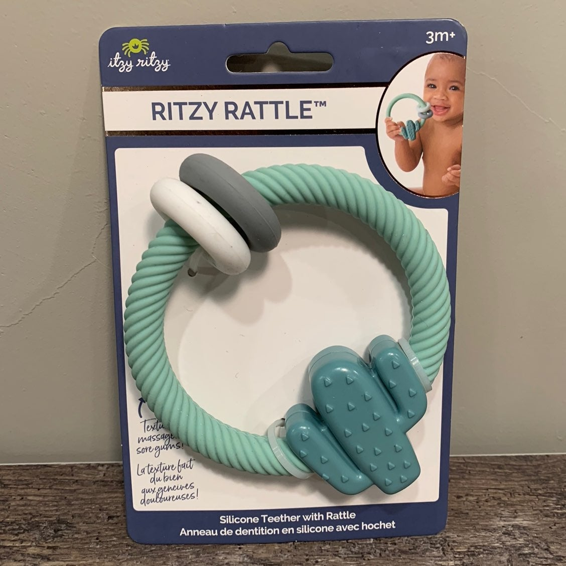 Itzy Ritzy Ring Cactus Rattle & Teether