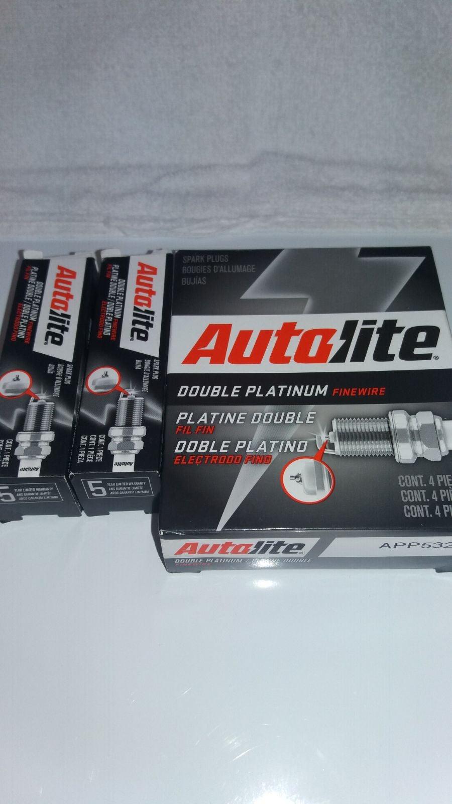 Autolite double pltnm spark plugs 6 (A)